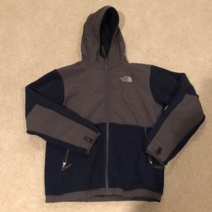 North Face Fleece Lined Hooded Jacket